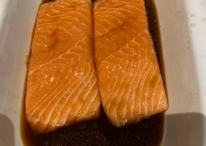 5 ingredient Salmon marinade