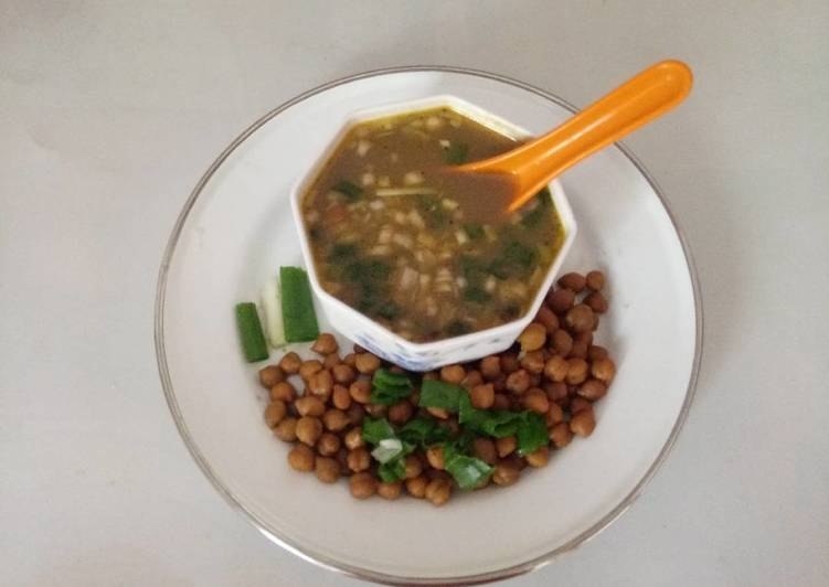 Chana & green onion soup