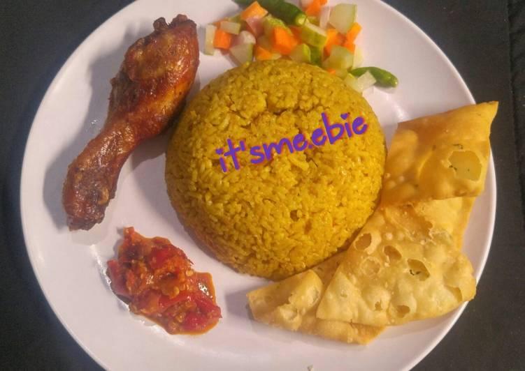 Nasi Kebuli Ayam bumbu instan