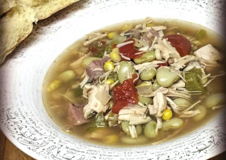 Steps to Make Homemade Mom's 70's Brunswick Chicken Stew