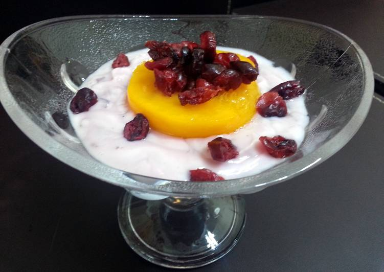 Peach And Dried Cranberry Parfait