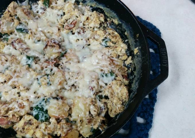 Step-by-Step Guide to Prepare Super Quick Homemade Cast Iron Southwest Skillet Breakfast