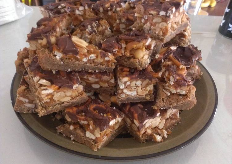 Step-by-Step Guide to Make Any-night-of-the-week Salty Carmel Peanut & Pretzel Bars