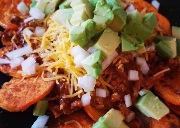 Sweet potato turkey nachos
