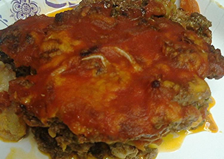 Recipe: Tasty Vegetables and ground meat pie