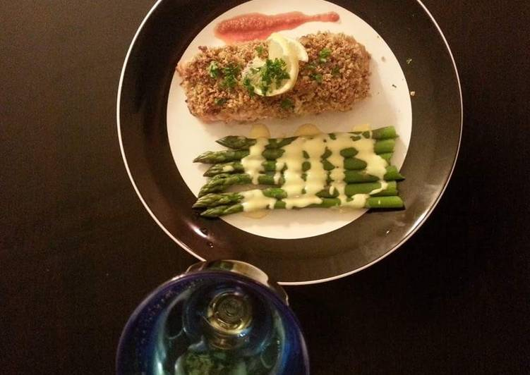 Delicious Pistachio encrusted Salmon