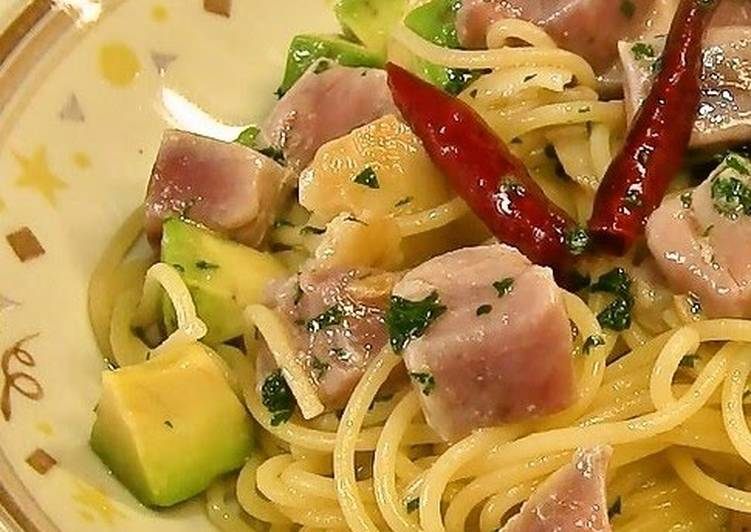 Avocado and Tuna Aglio Olio e Peperoncino