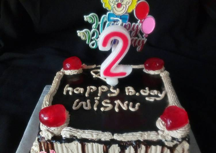 Resep: Enak Simple Bday Cake