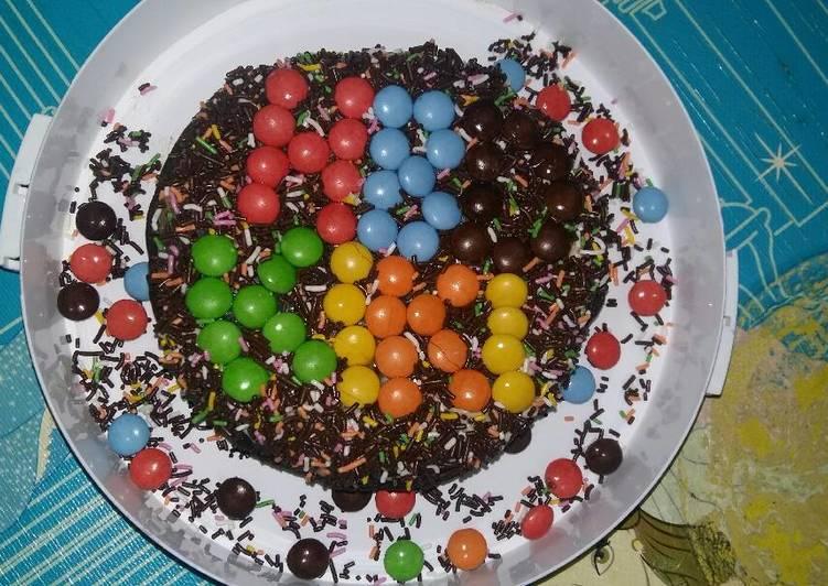 Brownies Coklat Nutricake Ala Anak Kos (Magic com)/ Kue Ultah