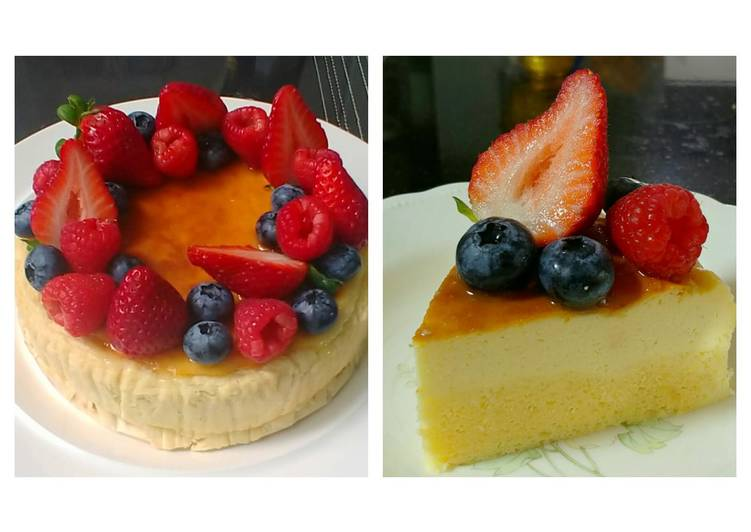 Recipe: Appetizing Yuzu Berries Souffle Cheesecake