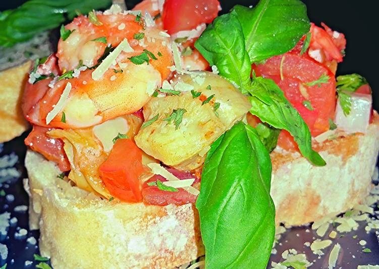 Mike's Shrimp Bruschetta