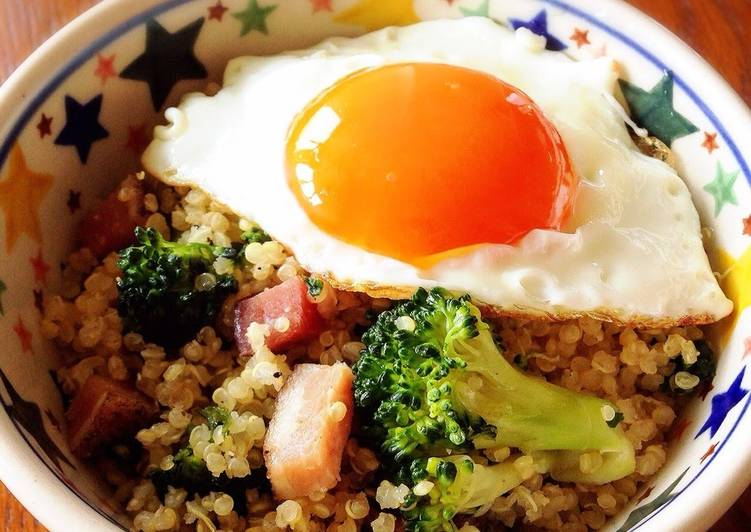 Why You Need To Quinoa in a Bowl with Soft-Set Fried Eggs