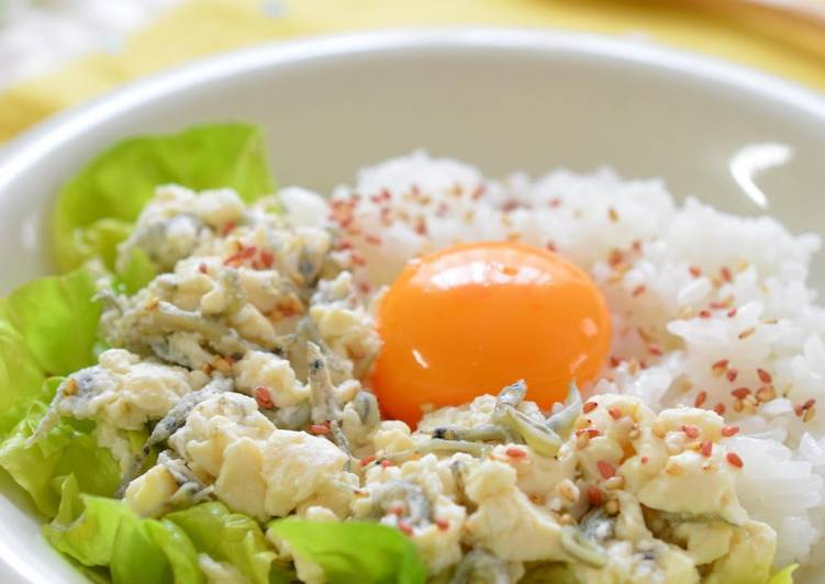 Simple Way to Make Quick Creamy Egg on Tofu Soboro A Healthy Breakfast