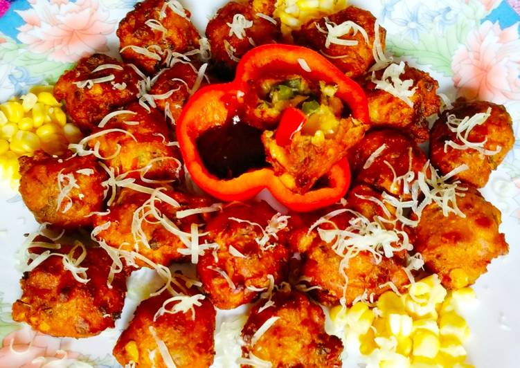 Recipe of Homemade Cheese Corn Pakoda
