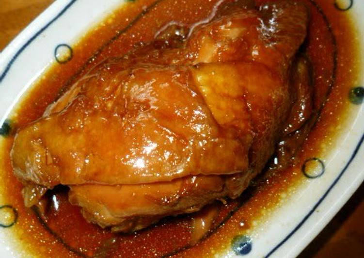 Simple Way to Make Perfect Braised Chicken Thighs with Demerara Sugar and Soy Sauce