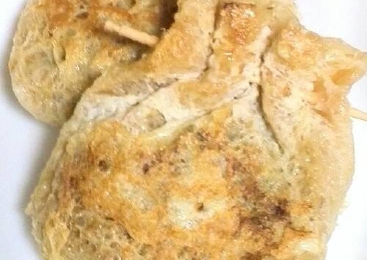 Steps to Make Speedy Natto-filled Crispy Fried Aburaage Pouches
