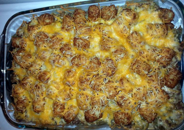 Recipe: Yummy tator  tot casserole