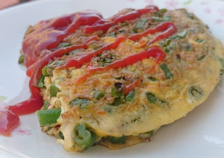 How to Make Yummy Long Bean Omelette