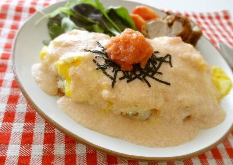 Recipe of Speedy Creamy Mentaiko Omurice