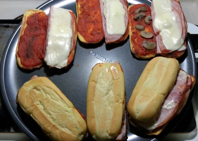 quick and easy pizza sub sandwiches'