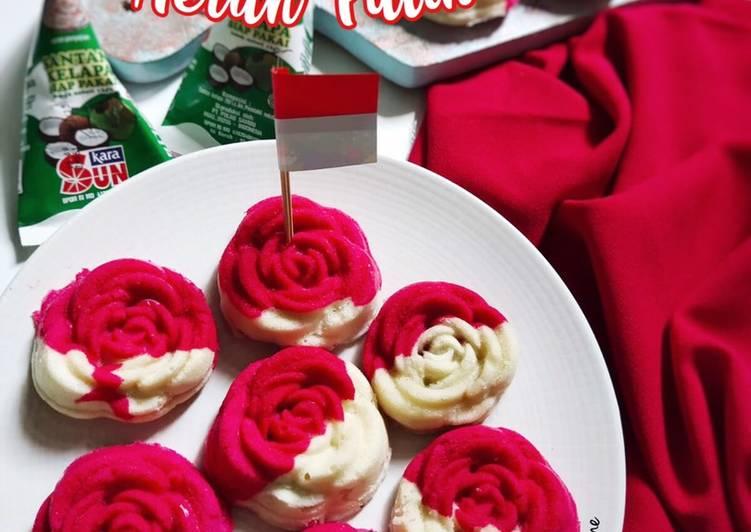 Bolu Mawar Merah Putih - cookandrecipe.com