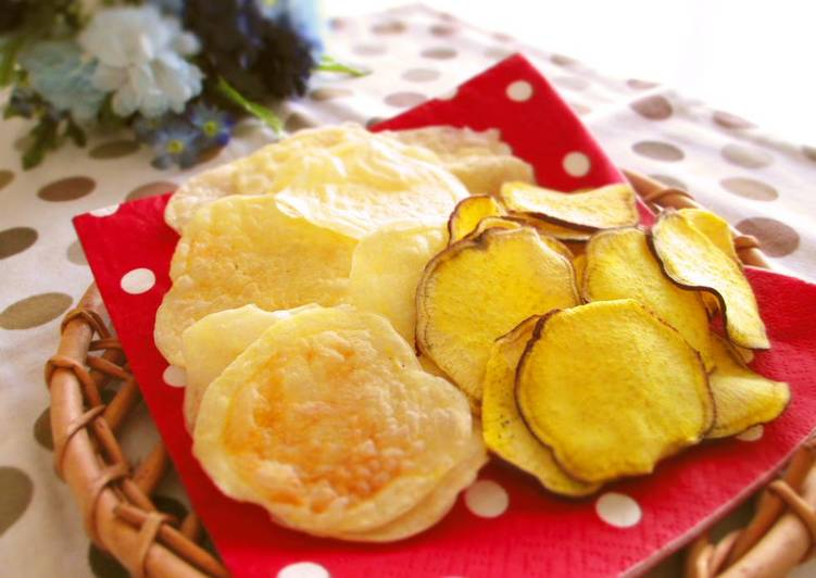 Non-Fried Potato Chips Easy in the Microwave