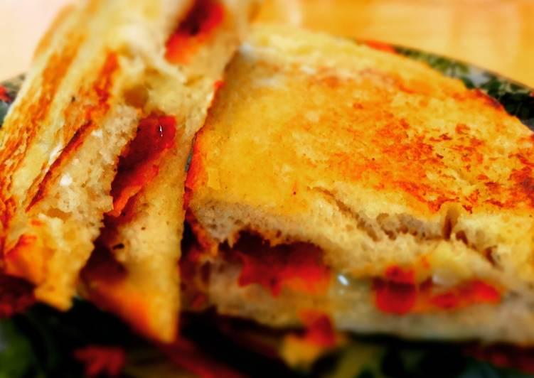 Pan Fried Gruyere and Pancetta Brioche Sandwich
