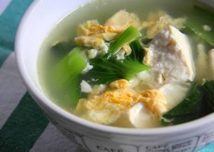 Bok Choy and Tofu Egg Drop Soup