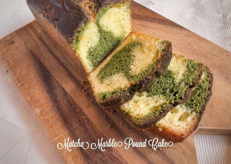 Matcha Marble Pound Cake - resepipouler.com
