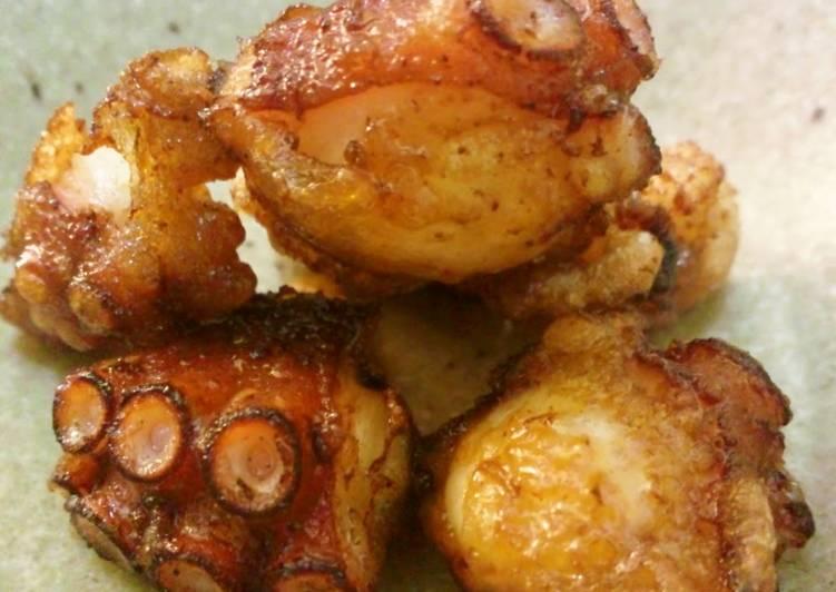 Easiest Way to Make Homemade Well-Seasoned Octopus Karaage