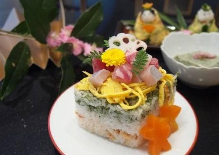 Easiest Way to Make Favorite Doll Festival Diamond Shaped Chirashi Sushi