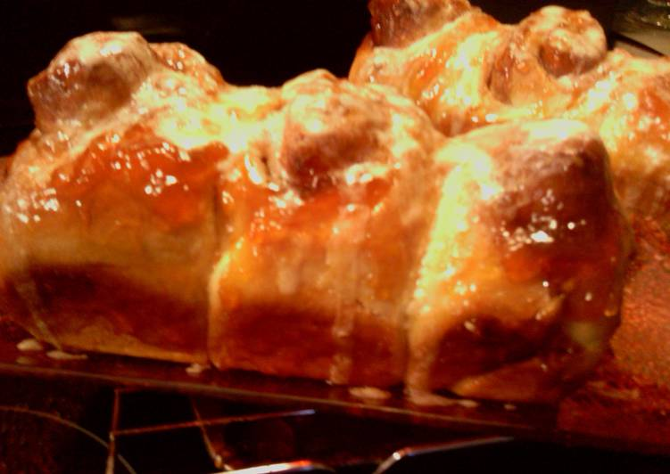 Simple Way to Prepare Perfect sunshines apricot cinnamon buns bread