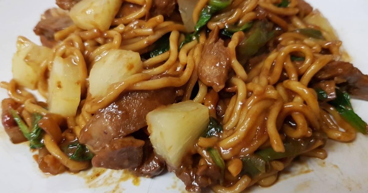 My Tasty Pork Stir Fry Noodles & Pineapple. 😀 Recipe by Maureen 😀 -  Cookpad