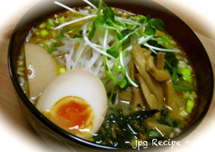 Recipe of Quick Miso Ramen Noodle Soup