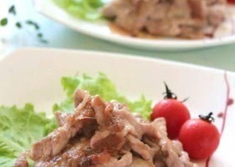Recipe of Quick Easy! Pork with Umeboshi Pickled Plum Sauce