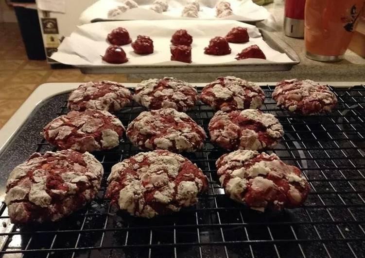 Red velvet white chocolate chip cookie