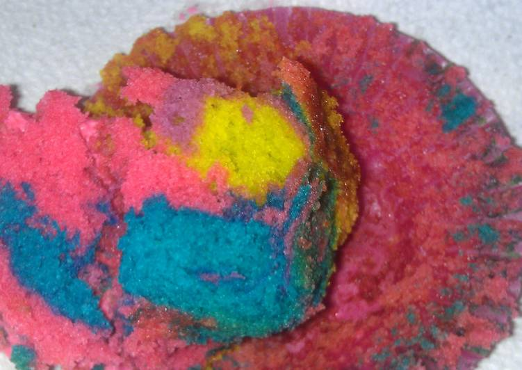 Recipe: Yummy TIE-DYE CUP CAKES