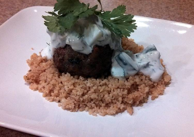 Simple Way to Make Award-winning Grilled Moroccan Meatballs with Yogurt Sauce