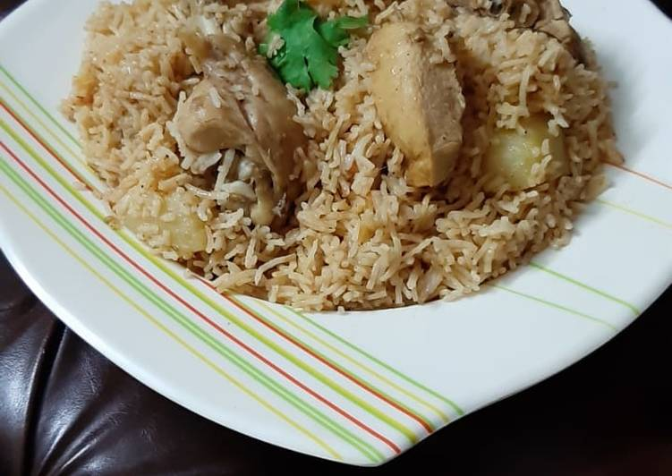Easiest Way to Prepare Super Quick Homemade Chicken white pulao
