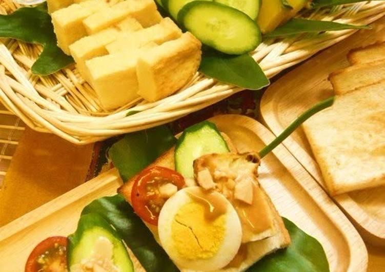Steps to Make Any-night-of-the-week Gado Gado Open Sandwiches