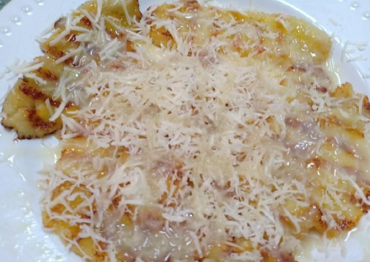 (Seri Cemilan) Pisang keju. Banana cheese (snack sore hari)