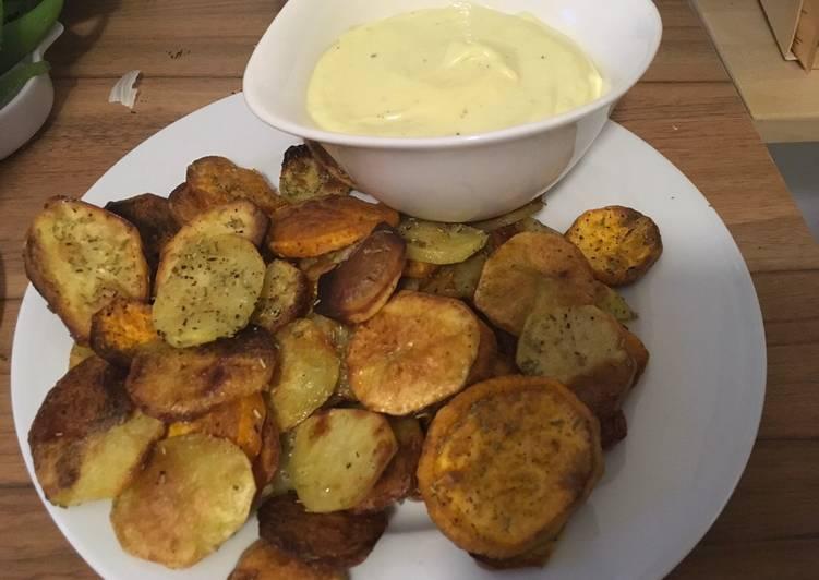 Knusprige Ofenkartoffeln (Mix aus Süßkartoffeln und normalen Kartoffeln)