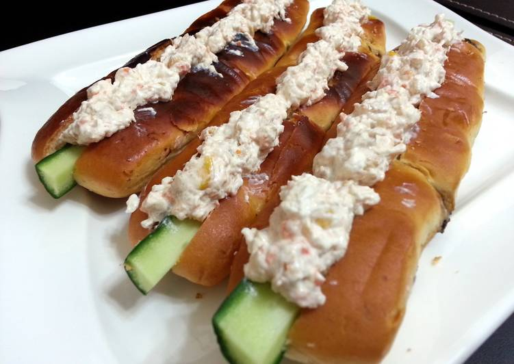 Salmon Spread In Hotdog Bun