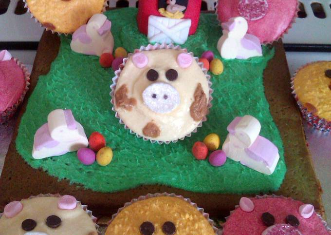 How to Make Delicious Vickys Kids Easter Cupcakes/Farmyard Cake Decoration Instruction