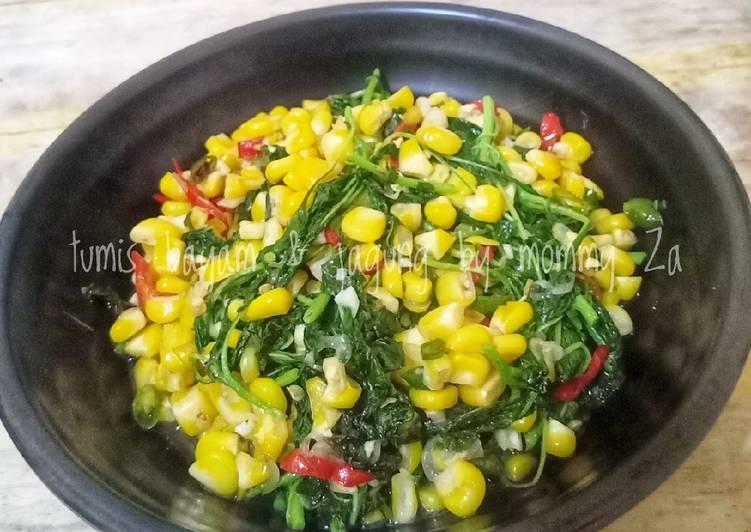 Tumis bayam & jagung manis 🌱🌽
