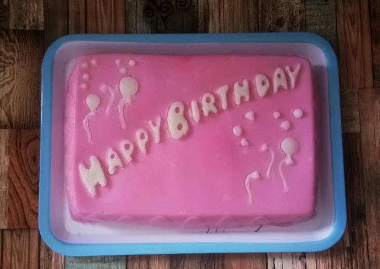 Kue ulang tahun dari tepung hunkwe - cookandrecipe.com