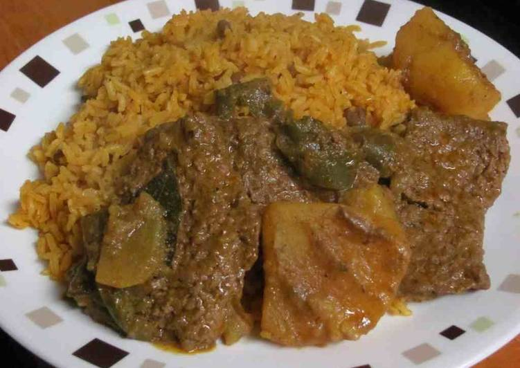 Puertorican bistec (beef stew) - Laurie G Edwards
