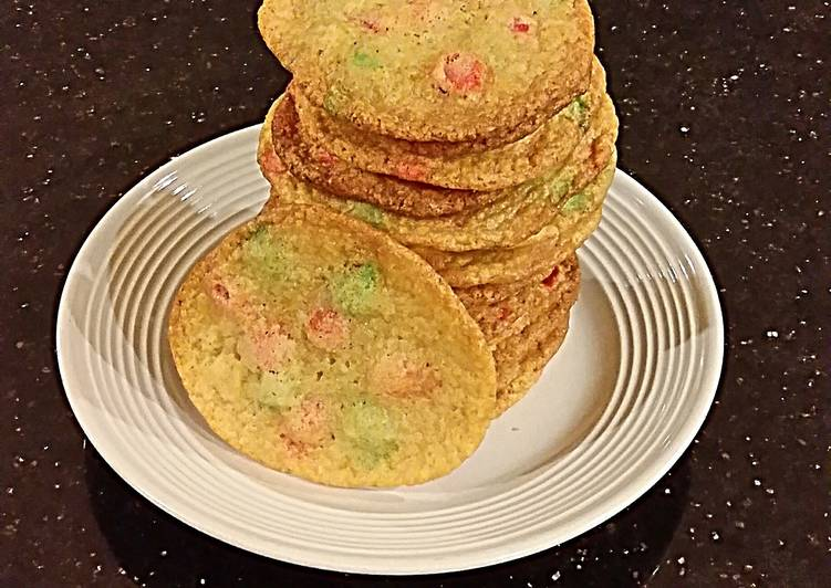 White Chocolate Cookies with Hoiday Cocolate Chips