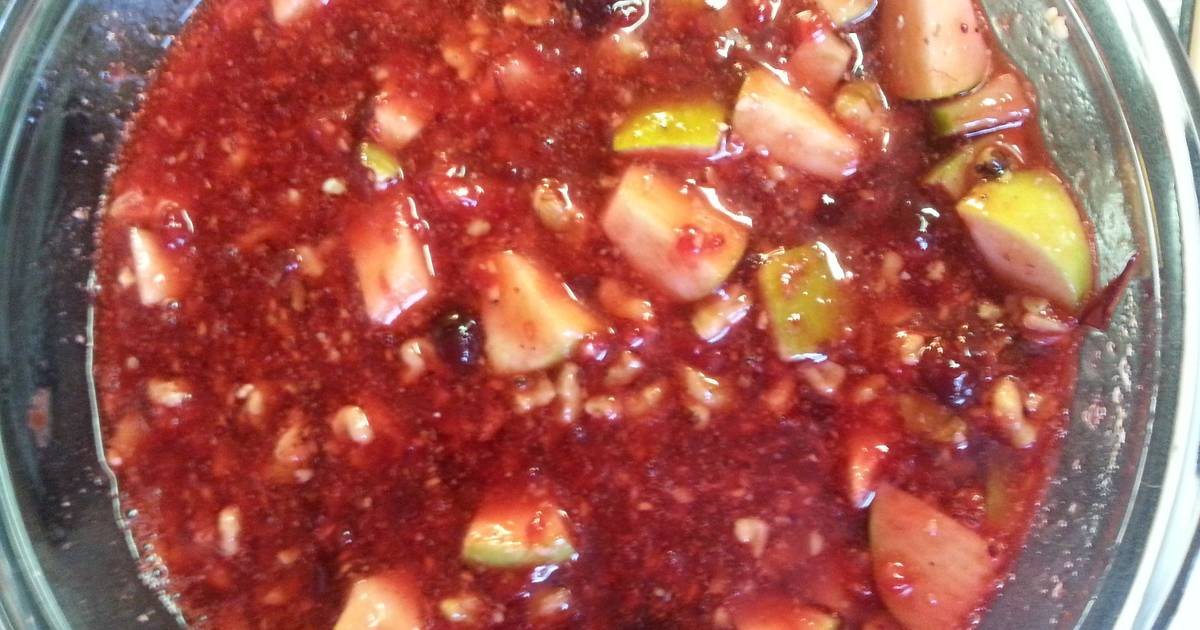 Apple Walnut Cranberry Relish