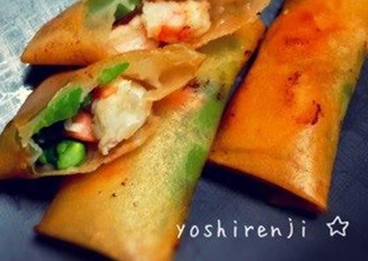 Easy Shrimp and Asparagus Spring Rolls
